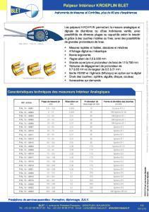 Palpeurs intérieurs standard KROEPLIN