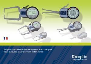 Palpeurs de mesure et contrôle d'épaisseur Kroeplin