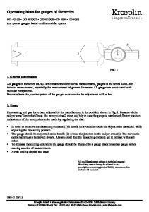 Séries ID40 / OD40 - Palpeurs Kroeplin