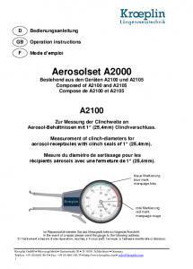 Palpeurs de mesure des aérosols Kroeplin