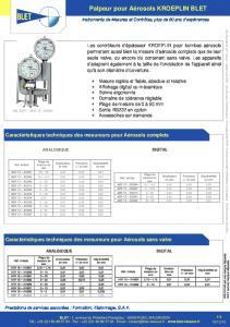 Contrôleurs d'épaisseur KROEPLIN pour aérosols